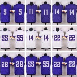 Wholesale Style Elite - Men Elite Style 100% Stitched Vikinggz #29 Rhodes #11 TREADWELL 19 Thielen #55 BARR #82 RUDOLPH (with player name&Number)