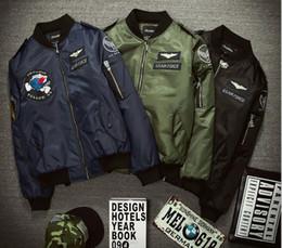 blazer con colletto Sconti 2016 Nuovo autunno caldo Stati Uniti Air Force giacche in piedi collare in fibra di uomini Capispalla Cappotti militari US Army giacca Zipper