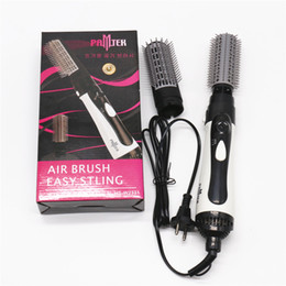 Wholesale Hair Dryers Combs - High quality Anion Hair Straightening comb with Hair dryer Electric curly hair brush with Retail box EU plug DHL Free