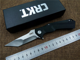 Wholesale Crkt Knives Survival - Newest CRKT Tactical Folding Knife 8cr13 Blade G10+STEEL Handle Outdoor Camping Survival Knife High Quality Utility Tool Knife