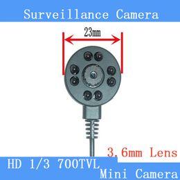 Wholesale Hidden Miniature Camera - Hidden camera IR 700TVL HD Mini night vision surveillance cameras 940 black light red miniature camera pinhole cameras