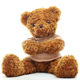 Wholesale Stuffed Animals Wedding Bears - Soft Teddy Bear Stuffed Toy Animals Plush Doll Bear Brown Peluches Grandes Wedding Decoration Bonecas Toys For Girls 50G0487