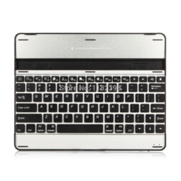 Wholesale Laptop Coloured Covers - Aluminum Bluetooth Wireless Keyboard Case Cover for Apple iPad 2 3+bluetooth wireless keyboard, Colour White & Black