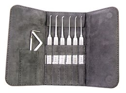 Wholesale Pick Products - High Quality 6pcs HUK LockPick With Two Tensions Premium Product Collective Edition Lock Pick Set Lock Picking For Used Locksmith Tools