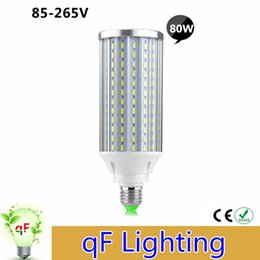 Wholesale High Power Led Pcb - Aluminum PCB Cooling LED Corn Lamp High Power E27 Full Watt 80W 210LEDs 85-265V No Fliker Long Lifespan Super Bright Light Bulbs