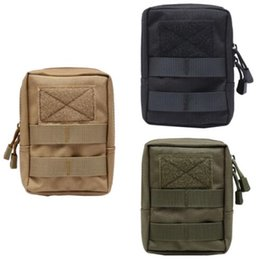 Wholesale College Wallets - Molle Climbing Camping Tactical Molle Bag 600D Nylon Pouch Portable Outdoor Mobile Phone Wallet Travel Military Sport Waist Pack