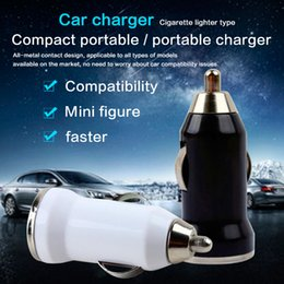 Wholesale Portable Car Ports - Portable Car Charger for Iphone Charger Mini Charger Micro Single USB Adapter USB Port for Iphone 5 Samsung S4 S5 HTC