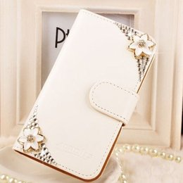 Wholesale Samsungs3 Case - 3d keyring Crystal Rhinestone Wallet Leather Purse Flip Card Pouch tand for Iphone4 5 5C 6 6P 7 7P for SamsungS3 S4 S5 S6