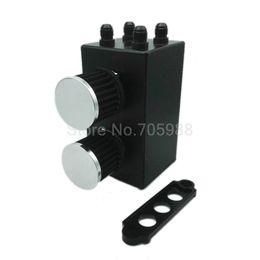 Wholesale Honda Civic Fuel - For Honda Civic Acura Integra EK EG DC Oil Catch Can Kit Breather Tank 4 Port S