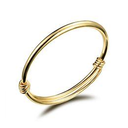 i bambini dei braccialetti dell'oro 18k Sconti Moda 18K giallo oro colore bella bambini Kid Boy Girl infantile bambino braccialetto braccialetto regalo fortunato più nuovo braccialetto per bambini