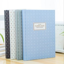 Wholesale Kawaii Diary Book - Wholesale- Korean Cute Stars Schedule Book Diary Weekly Monthly Planner Organizer Notebook Kawaii Stationery