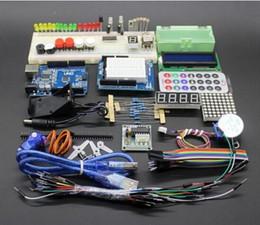 Wholesale Breadboard Kit Jumper Wires - Wholesale-Starter kit for Arduino - UNO R3  Step Motor  Servo  1602 LCD  Breadboard  Jumper Wire  Joystick  Relay