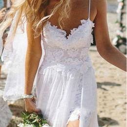 Wholesale White Maxi Sundress - Wholesale- Womens Sexy Summer Mesh Lace Dress Boho Maxi Long Evening White Party Dresses Beach Dress Sundress Vestido De Renda