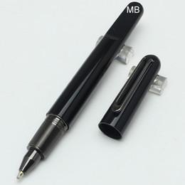 2019 penna a sfera magnetica Prezzo promozionale MB Magnetic cap resina nera Roller Ball Pen School Office Fornitori Spedizione gratuita Alta qualità MT Bella penna penna a sfera magnetica economici