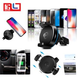Wholesale Qi Wireless Charging Car - Car mount with Car Wireless Charger for phone support Qi wireless charge for Iphone X Samsung S8 Free DHL Shipping