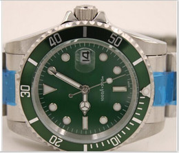 Wholesale Dive Eta - Luxury Green Ceramic Bezel Swiss Eta Movement Watch Anniversary 116610 Perpetual Dive Mechanical Wat