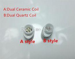 Wholesale Elips For Wax - DHL Full Ceramic Dual Wax Coil with Ceramic Rod dual quartz Rod Ceramic Donut for micro Elips Wax pen Vaporizer E Cigarette Atomizer