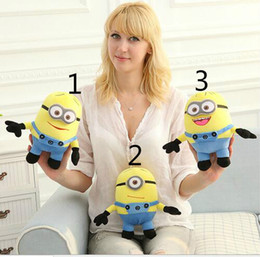Wholesale 18cm Plush - Despicable ME Movie Plush Toy 18cm Minion Jorge Stewart Dave Minions 3D eyes plush toys with tags free shipping