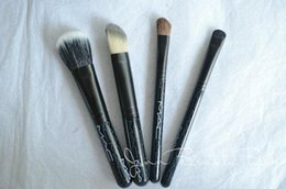 Wholesale New Look Bags Wholesale - Look in A Box M Advanced Brush Kit 4pcs Brush With Leather pouch Basic Brush Kit 5PCS With Bag Limited New IN bOX DHL Free