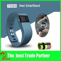 Wholesale Iphone Fitness - TW64 Smartband Smart Sport Bracelet Wristband Fitness Tracker Bluetooth 4.0 Watch for iPhone PK fitbit flex pulsera inteligente