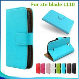 Wholesale Credit Card Flip Leather Pouch - For zte blade L110 for Huawei y6 II compact Flip PU Leather pouch Walllet case cover inside Credit card slots with stand