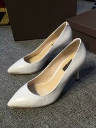 Wholesale Sheep Black High Heeled Shoes - Sheep Skin Women Sexy Pumps Lady New Fashion High Heel Shoes Pointed Toe Single Summer Shoes