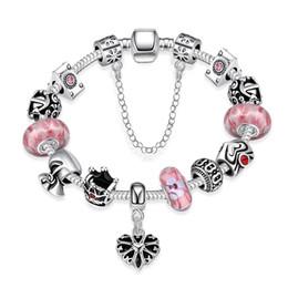 Wholesale 925 Silver Bracelets Stones - Wholesale-fashion ruby stone charm bead bracelets 925 sterling silver jewelry pink natural stone vintage DIY Pandoras Charm bracelets