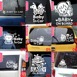 Wholesale Pink Laptop Stickers - Removable car Sticker baby in car waterproof with sunscreen Travel Case Sticker Door Laptop Car cool Stickers