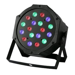 Wholesale 18 led blue strobe light - Professional LED Stage Lights 18 LED RGB PAR DMX Stage Lighting Effect DMX512 Master-Slave Flat for DJ Disco Party KTV