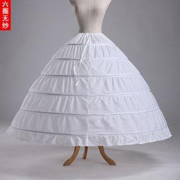 Canada De gros! Pas cher accessoires de mariage de haute qualité 6 cerceaux crinoline jupon jupon pour robe de mariée robe de mariée en stock livrer rapidement Offre