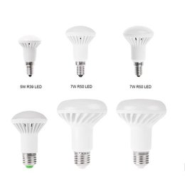 Wholesale R63 Lamp - SMD 5730 R39 R50 R63 R80 LED Bulb E14 E27 5W 7W 9W 12W mushroom bulb Warm white Cold white LED Spot Lamp