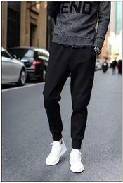 Wholesale Waist Slimming Bands - Wholesale-2016 Top Fashion Harem Pants Men Casual Slim Fit Ankle Banded Trousers Men Good Quality