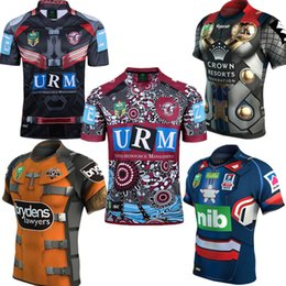 Wholesale Rugby Cowboys - 2017 NRL National Rugby League Newcastle cknights Brisbane Broncos Melbourne Storms Tigers Sea Eagles Cowboys jerseys Dragons Rugby Shirts