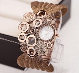 Wholesale Wholesale Watches Clothes - Fashion watch lady hot style watches mesh belt studded watch women clothing accessories table sell like hot cakes gifts 5pcs