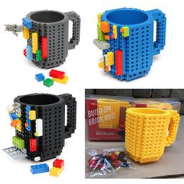 Wholesale Coffee Clear - Creartive Gifts Build-On Brick Mug Lego Type Building Blocks Coffee Cup DIY Block Puzzle Mug 12oz Christmas Mugs