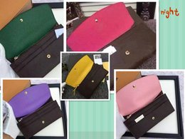 Wholesale Long Wallets - free shipping Wholesale lady luxury multicolor coin purse long wallet colourfull Card holder original box women classic zipper pocket.