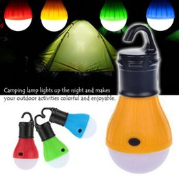 Wholesale Free Tents - Newest Soft Light Outdoor Hanging 3 LED Lights Outdoor hang Camping Tent Lantern Bulb Fishing battery White Light Bulb Lamps Free Shipping