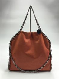 Wholesale Navy Shopping - Fress Shipping NEW 37CM Lady PVC Faux Leather Falabella Shoulder Bag luxury Chains Handbag New Fashion Stella Handbag PVC Shopping Tote