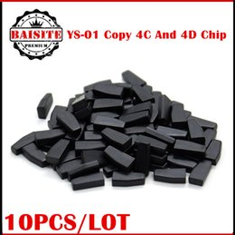 Wholesale Chip Keys Auto - 2016 New Arrival auto transponder chip ys01 ys-01 copy 4c and 4d transponder chip for cn900 and nd900 key programmer 10pcs lot