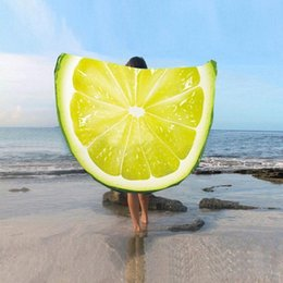 Wholesale Microfiber Super Absorbent Towel - 15 colors Fruits Microfiber Round Beach Towel Fruit Pattern Printed Bath Towel Super Absorbent Towels Summer Holiday Supply christmas
