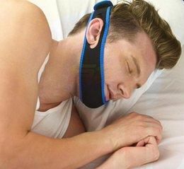 tiras nasales anti ronquidos Rebajas Anti ronquido Chin Correa Neopreno Dejar de roncar Chin Chin Belt Anti Apnea Jaw Solution Sleep dispositivo 2017
