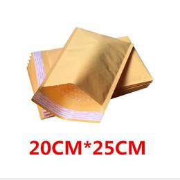 Wholesale-20cmx25cm 20 adet Kabarcık Postaları Yastıklı Zarflar Çanta, kraft zarflar mailler, kabarcık zarf nereden