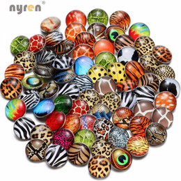 Wholesale bohemian bracelet diy - 50pcs lot Charm Mixed 18mm Animal Leopard Stripe Lattice Theme Snap Button For Snap Bracelet Necklace DIY Jewelry