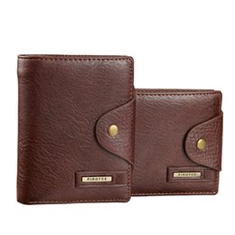 Wholesale Wholesale Mens Leather Wallets - Wholesale-2016 Brand Men Design Short Small Wallets Male Mens PU Leather Black Brown With Coin Pocket Card Holder Wallet Purse Carteras