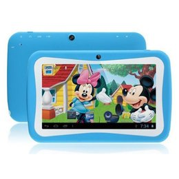 Wholesale Cheapest China Tablets - Cheapest Kids Tablets 7 inch Android 5.0 kids tablet pc RK3126 Quad core Bluetooth 512MB RAM 8GB ROM Kids Games & Apps Best gifts for kids