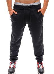 Wholesale Men Access - Wholesale-2016 new pure color belt Access sports Wei pants men casual trousers feet straight Pants casual Sport wear Jogging