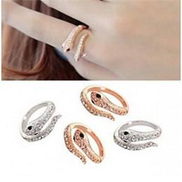 Wholesale Snake Wedding Rings - Korean version of the ring exaggerated personality nightclub punk fashion animal snake ring