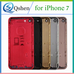 Wholesale Replacement Back Cover - for iPhone 7 7 Plus Metal Back Housing Rear Cover Battery Door Frame Case Replacement A Qualtiy