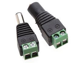 Connecteur d'alimentation 12v dc en Ligne-DC 12V 5.5 * 2.1 Plug Mâle Femelle Adaptateur Connecteur Mâle Pour 5050 3528 LED Strip Light Alimentation