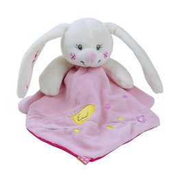 Wholesale Unisex Comforters - New 1pc Baby Comforter Toy Cute Cartoon Animal Soft Plush Multifunctional Saliva towel Baby Care